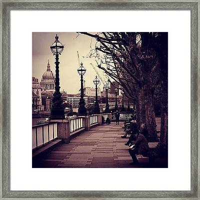 #london #southbank #stpaul Framed Print