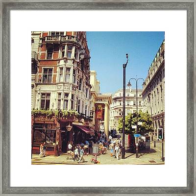 London Streets, #street #streetphoto_bw Framed Print