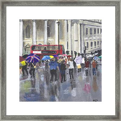 London - Summer 2012-1 Framed Print by Peter Edward Green