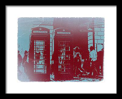 Telephone Booth Framed Prints