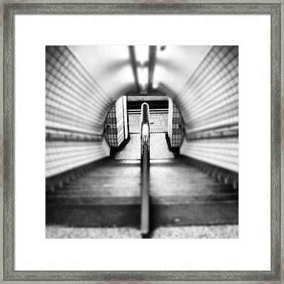 #london #uk May 2012| #underground Framed Print by Abdelrahman Alawwad