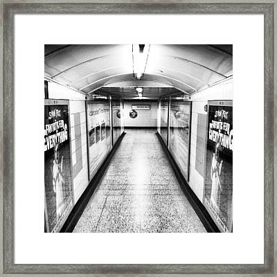London Undergrounds! #london Framed Print by Abdelrahman Alawwad