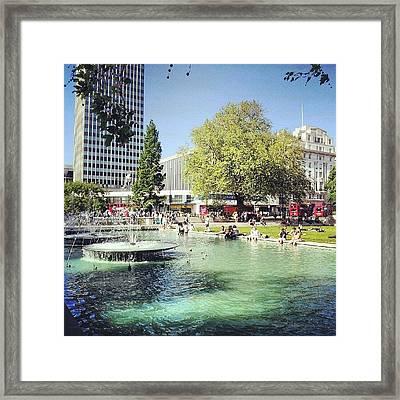 #london #water #summer #sun #hyepark Framed Print by Abdelrahman Alawwad