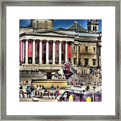 #london2012 #london #uk #summer2012 Framed Print