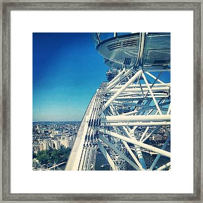 #londoneye #sky #clouds #high #london Framed Print