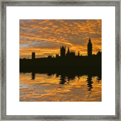 London's Burning Framed Print by Sharon Lisa Clarke