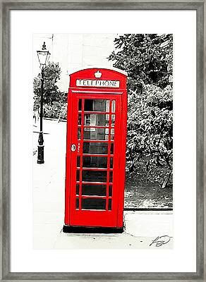 London's Red Booth Framed Print by ABA Studio Designs