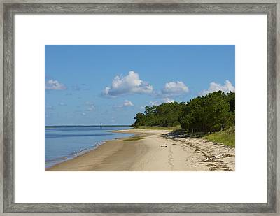 Lone Beach Framed Print