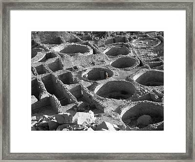 Lone Biker In Pueblo Bonito Framed Print