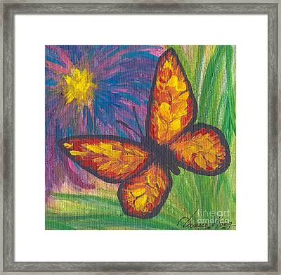 Lone Butterfly Framed Print