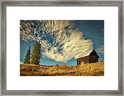 Lone Cabin Framed Print by Jeff Kolker