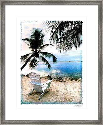 Lone Chair Morada Framed Print by Linda Olsen