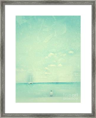 Framed Print featuring the photograph Lone Figure by Diana Riukas