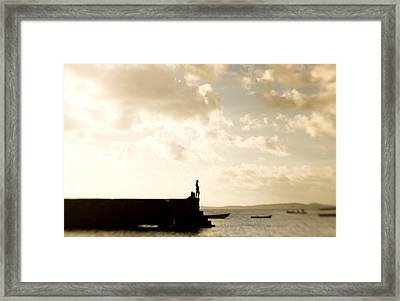 Lone Fisher Framed Print by Royce Gorsuch