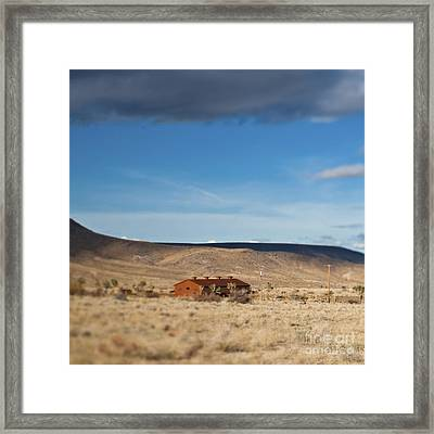 Lone House In The Desert Framed Print by Eddy Joaquim