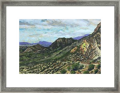 Lone Mountain Framed Print