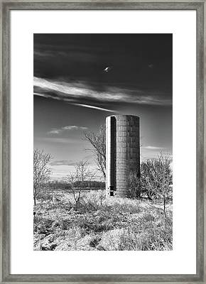 Lone Silo Framed Print by Guy Whiteley