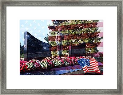 Lone Soldier Memorial Framed Print by Kay Novy
