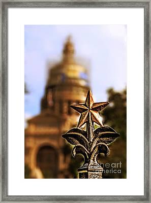 Lone Star Capitol Framed Print