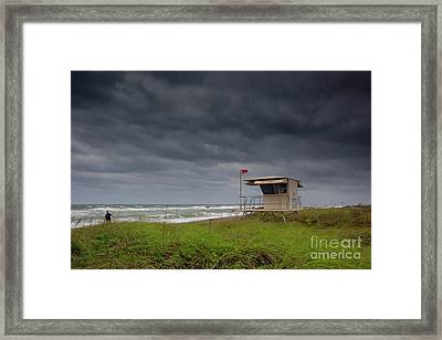 Lone Surfer Framed Print by Keith Kapple