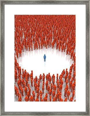 Loneliness, Conceptual Image Framed Print by David Mack