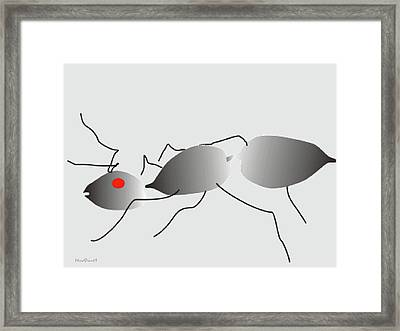 Framed Print featuring the digital art Lonely Ant by Asok Mukhopadhyay