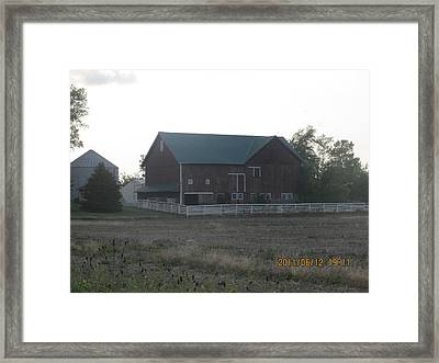 Framed Print featuring the photograph Lonely Barn by Tina M Wenger