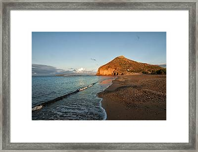 Lonely Beach Framed Print by Manolis Tsantakis