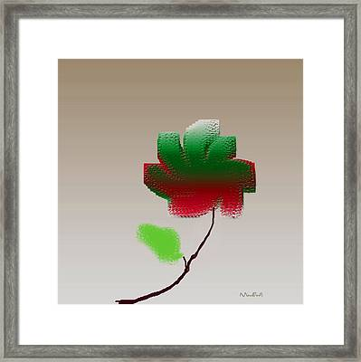 Framed Print featuring the digital art Lonely Beauty by Asok Mukhopadhyay