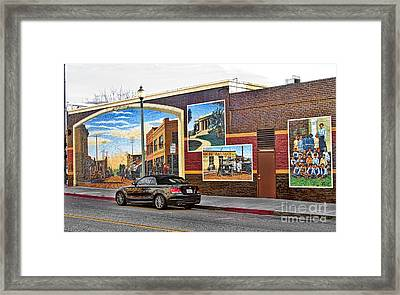Framed Print featuring the photograph Old Town Santa Paula Mural by Jason Abando