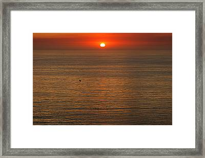 Lonely Boat In Quiet Move Framed Print by Viktor Savchenko