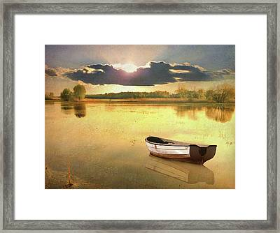 Lonely Boat Framed Print
