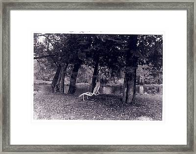 Lonely Chair Framed Print by Cecelia Taylor-Hunt