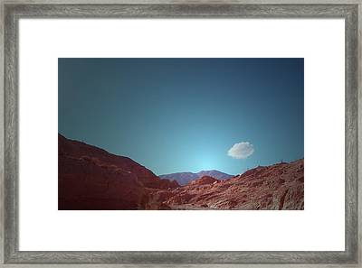 Lonely Cloud Framed Print by Naxart Studio