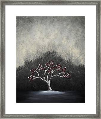 Framed Print featuring the painting Lonely by Edwin Alverio
