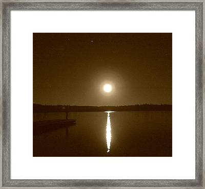 Lonely Moon Rise Framed Print by Jessica Hatton