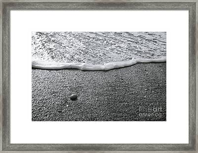 Lonely Pebble Framed Print