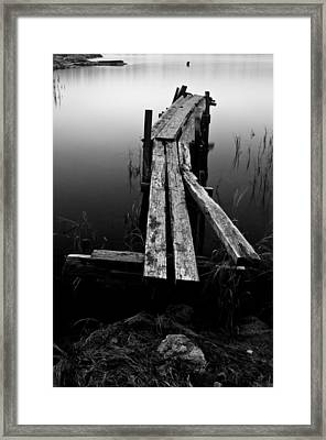 Lonely Pier Framed Print by Matthias Siewert
