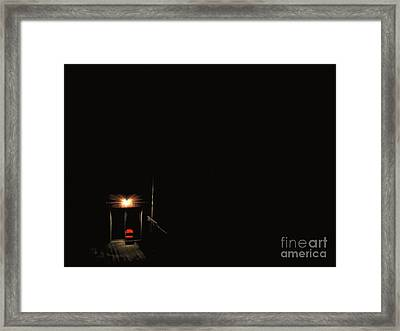 Lonely Red Chair Framed Print by Chris Traber