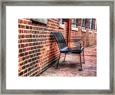 Lonely Seat Framed Print by Debbi Granruth