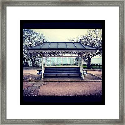 Lonely Shelter #shelter #southendonsea Framed Print