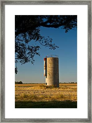 Lonely Silo 2 Framed Print by Douglas Barnett