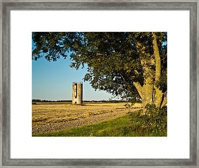 Lonely Silo 4 Framed Print by Douglas Barnett