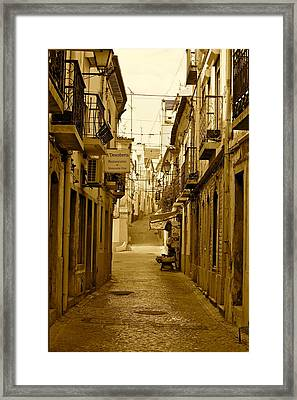Lonely Street Framed Print by Michael Cinnamond