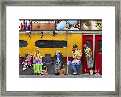 Lonely Travelers - Crop Of Original - To See Complete Artwork Click View All Framed Print by Anne Klar