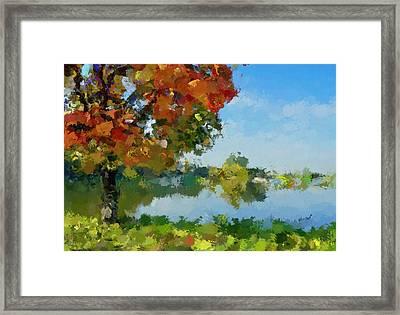 Lonely Tree Framed Print by Yury Malkov