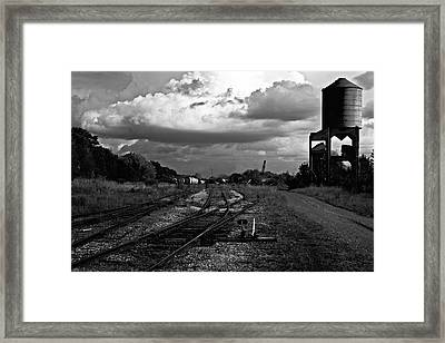Lonely Water Tower Framed Print