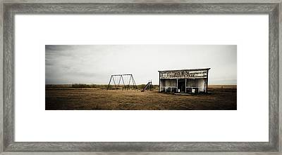 Lonesome Playground Framed Print