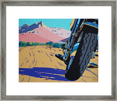 Lonesome Trail Framed Print