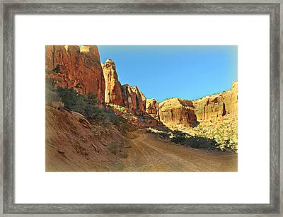 Long Canyon 1 Framed Print by Marty Koch